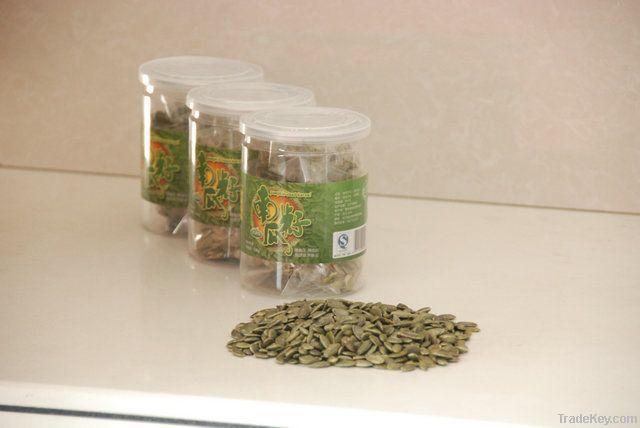 Roasted pumpkin seed kernels, snack, bakery grade, bar