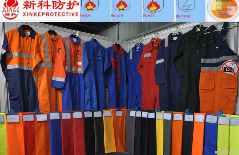 Flame retardant workwear with proban finishing