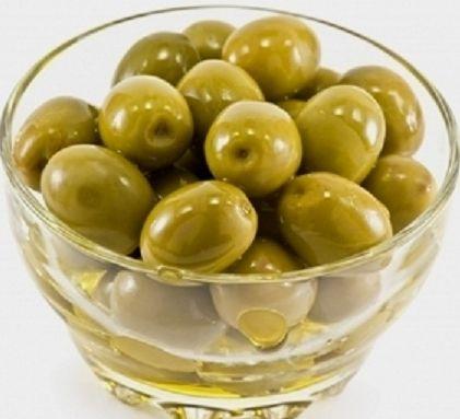 natural green olives