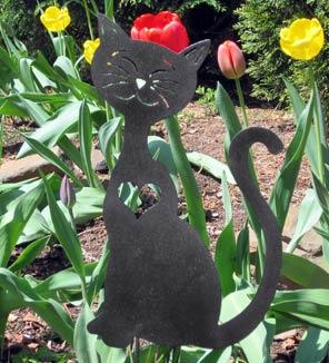 Cat Heart Garden Stake