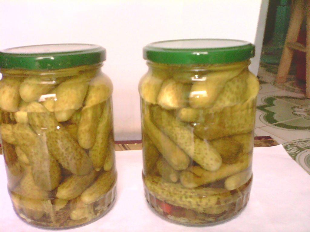 pickled cucumber in jar