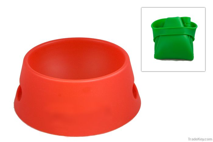 silicone collapsable/foldable pet bowl