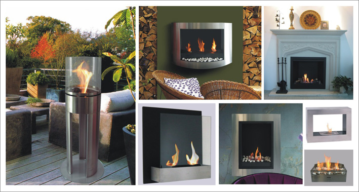 Electric and bioethanol fireplaces