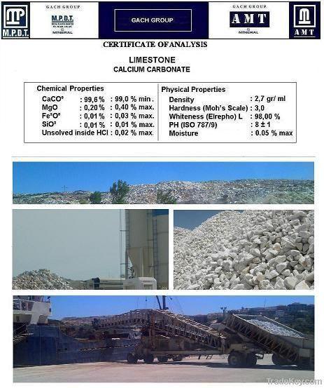Calcium carbonate, calcite,