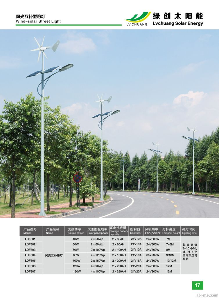 wind and solar hybrid LED street light