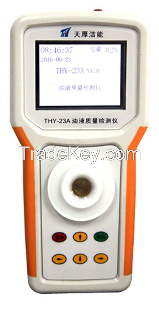 Hand held industrial lubricant oil analyzer