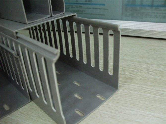 grey slotted wire duct