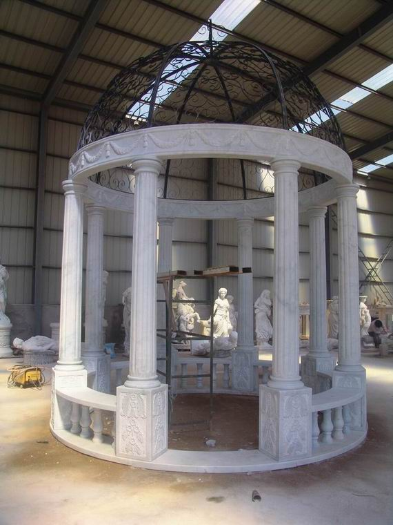 stone column, pilaster, stone gazebo , marble column