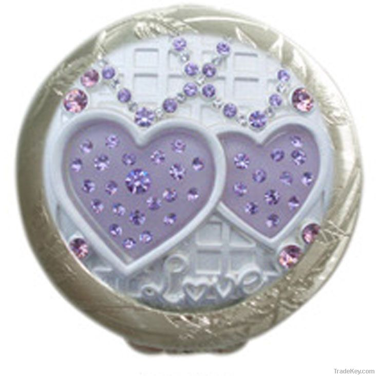 Lovely Metal Cosmetic Mirror Case