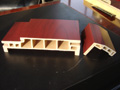 wood plastic composites extrusion line
