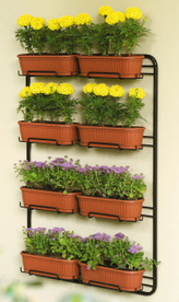 Flower Boxes (Wood - Wrought Iron)