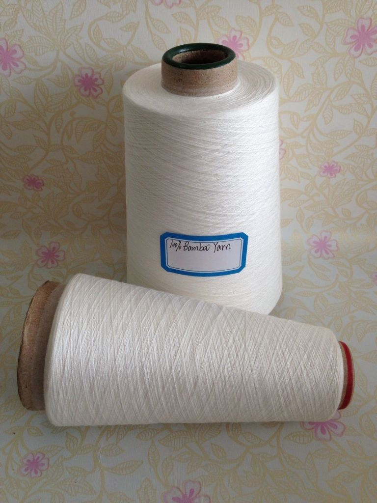 32s/1 100% Bamboo Yarn In Raw Whitte