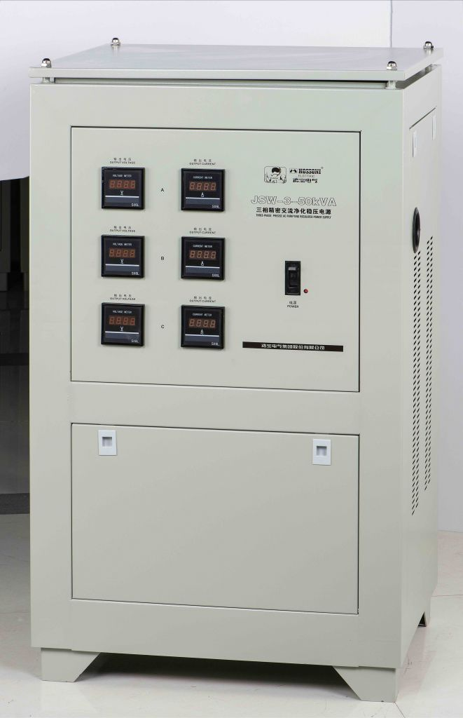 JSW (Triphase) series Precision Purified  AC Voltage Stabilizer