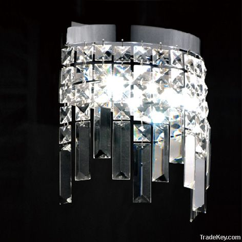 Square Crystal Wall Lamp