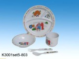 Melamine kids dinner sets