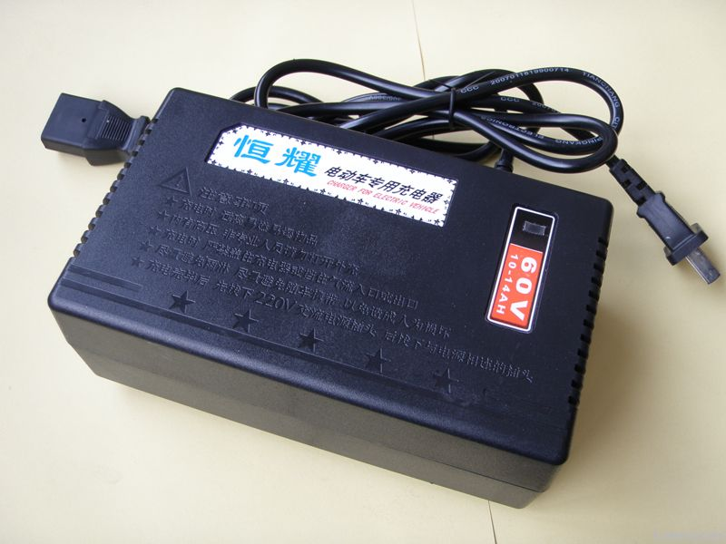 Three steps battery charger for electric bike