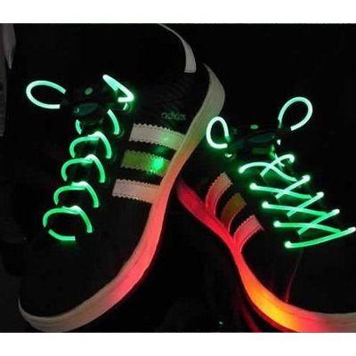 LED fibre neon shoelaces