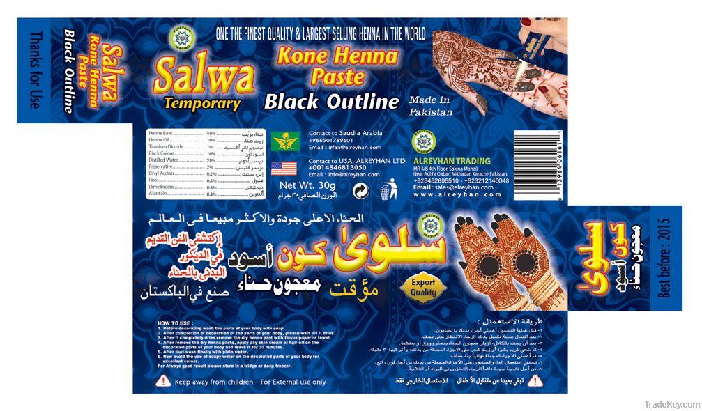 salwa henna kon pest balack outline
