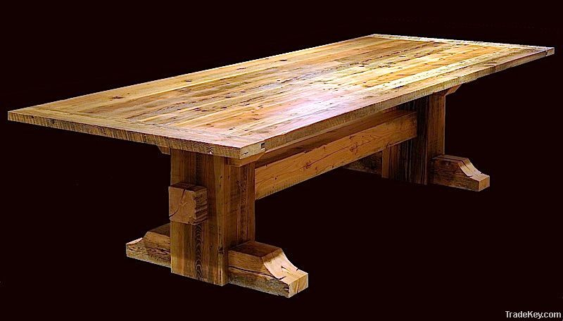 Reclaimed Barn Wood 13 piece Dining Set