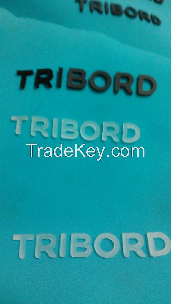 3D flock heat transfer iron-on garment label team badge patch