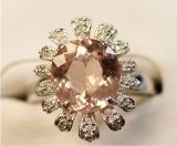 925 Siver Ring with Morganite (LMO1005)