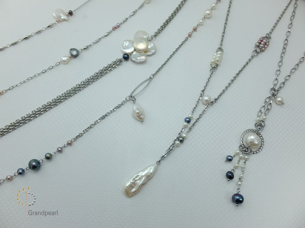11_Pearl Chain Long Necklace