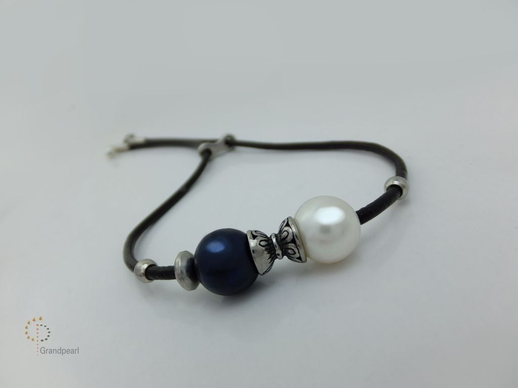 56_Pearl Leather Bracelet PLB050