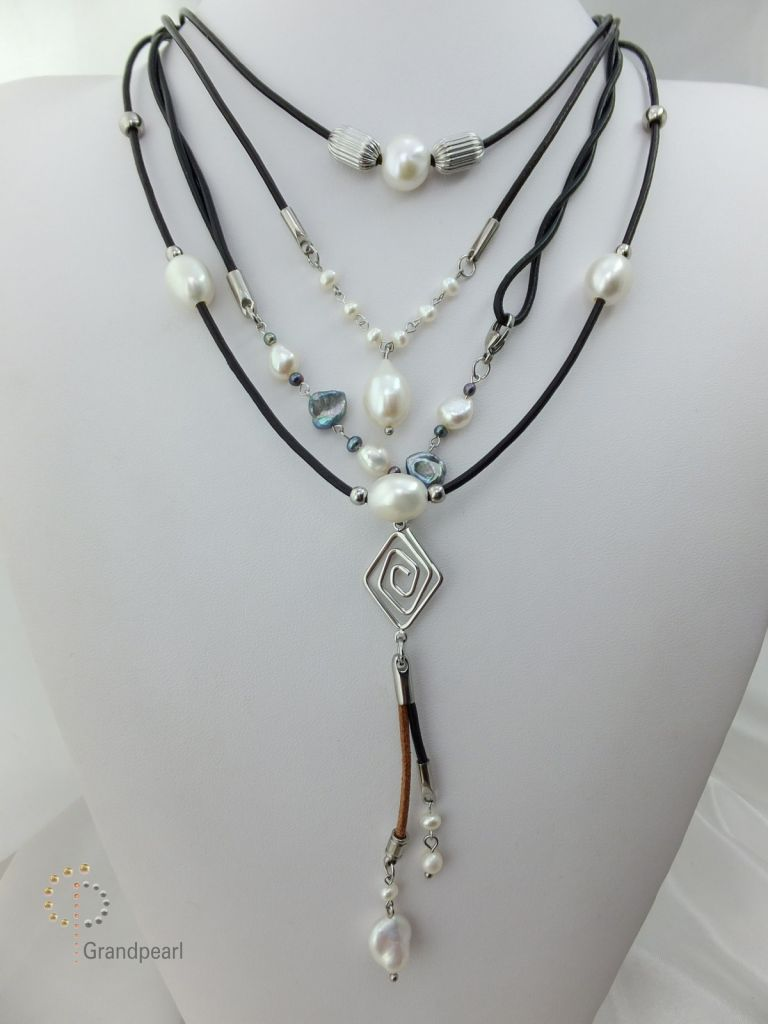 75_Genuine Leather Necklace