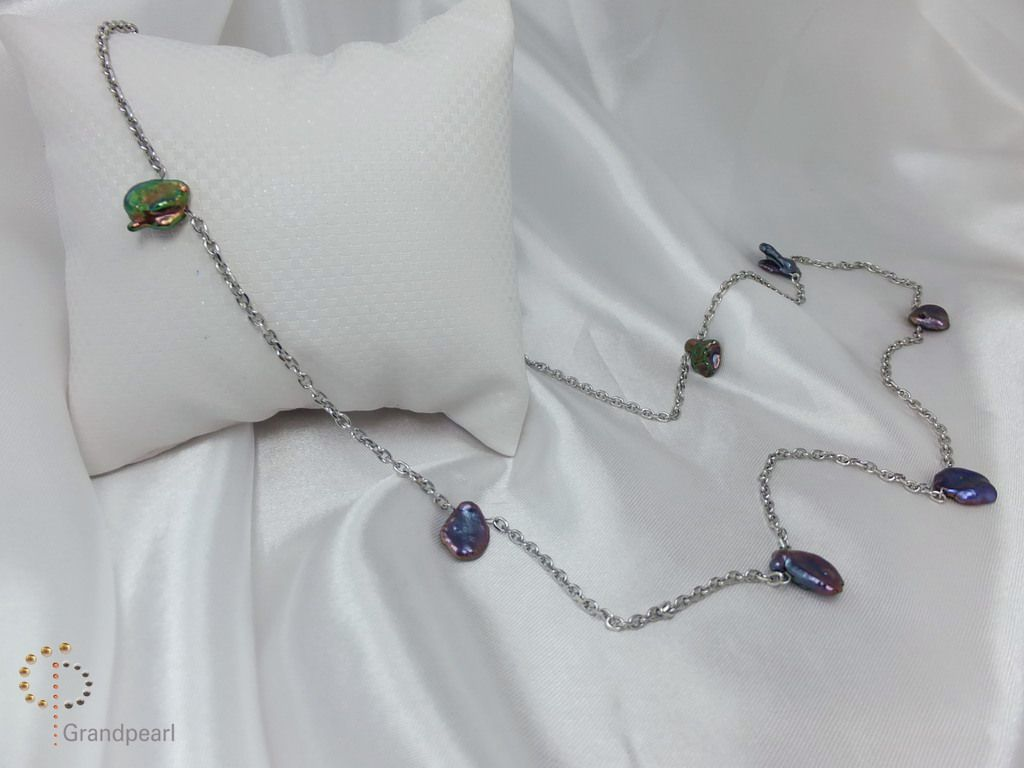 93_Pearl Chain Long Necklace PNA003