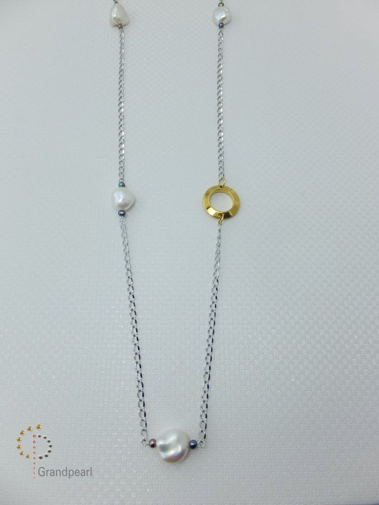 122_Pearl Chain Long Necklace PNA008