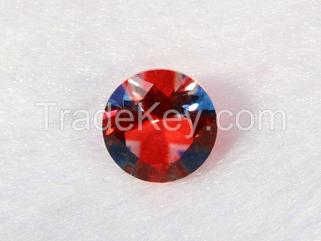Brilliant-cut Bi-color Doublet Crystal - 01