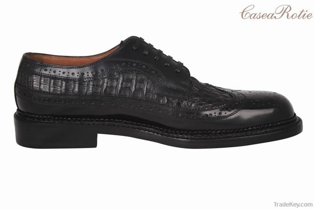 Handmade leather dress shoes for mens