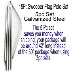 15ft Swooper Flag Pole