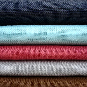 #2836 Pure Linen Fabric Piece dyed for garment and hometextile