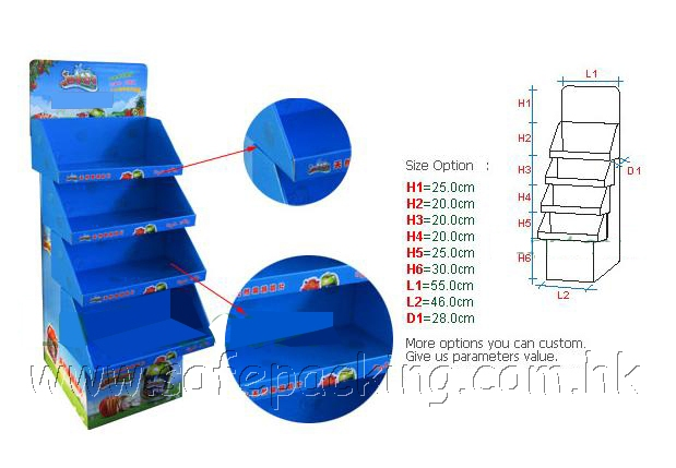 floor display;promational display;paper display