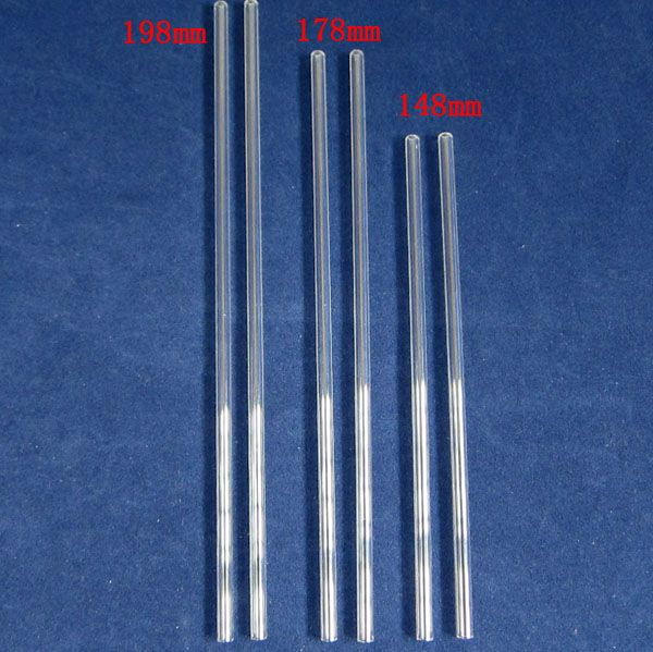 OD 4mm clear low OH silica tube with different length for electric heating etc.