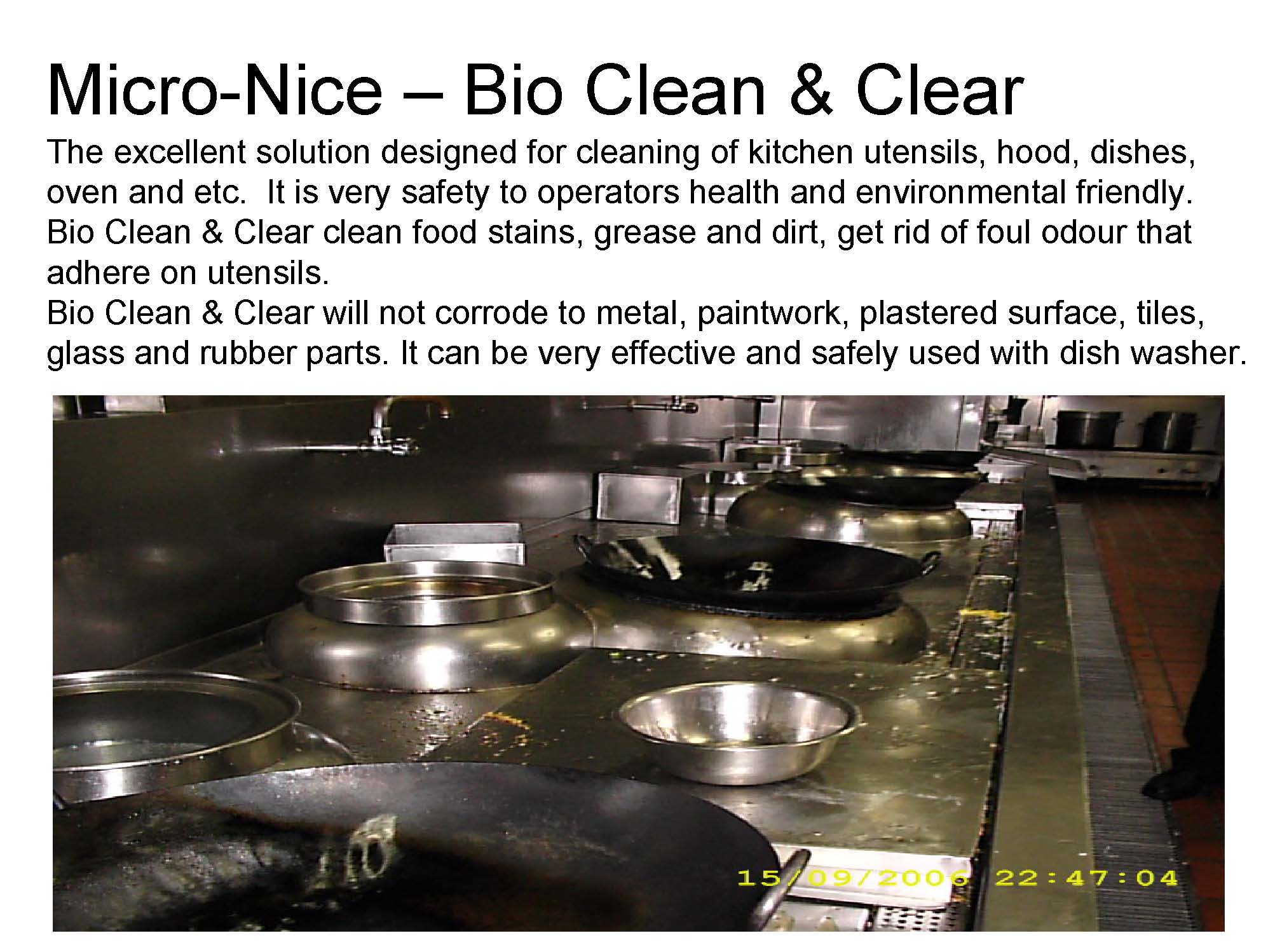 !00% Biodegradable cleansing agent for all kitchen wares and floors