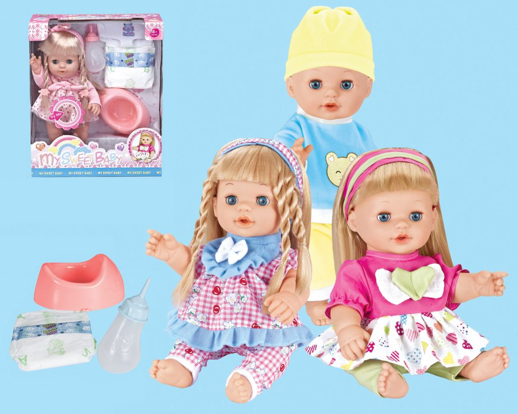 14 inches sweet baby doll with sounds