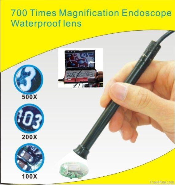 waterproof USB microscope 700x zoom Endoscope 4 led 10mm lens