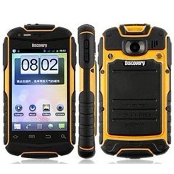 Discovery V5 Android capacitive screen smartphone phone Waterproof Dustproof Shockproof WIFI Dual camera 4COLORS