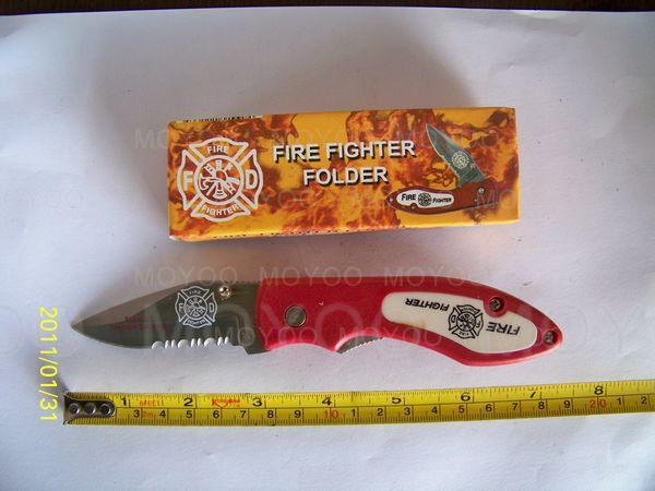 Fire Fighter Survival Knife Pocket Knife SJ057-- 7.25