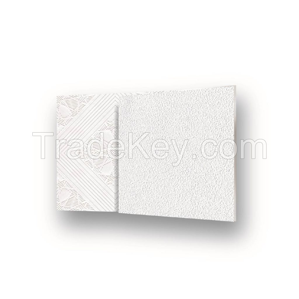 2017 High Quality PVC Gypsum Ceiling Tiles Soundproof and Fireproof Decorative