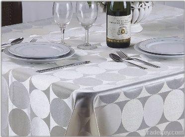 100%polyester elegant jacquard  table cloth