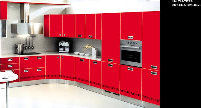uv painted MDF high gloss panel for kitchen cabinet