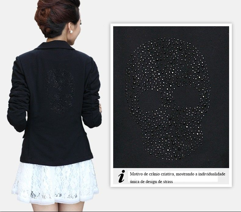 2014 new Korean version of diamond design one button slim fit coat suits for women Spring autumn winter