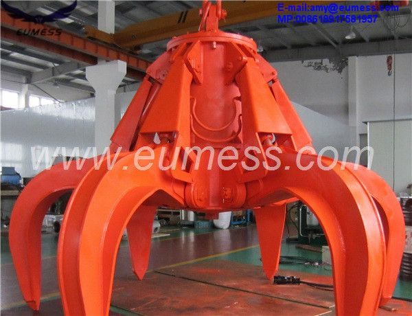 Motor-Hydraulic Orange Peel Grab