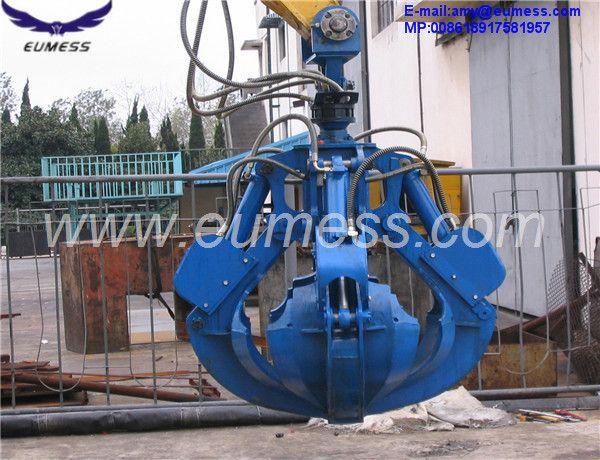 excavator hydraulic clamshell grab