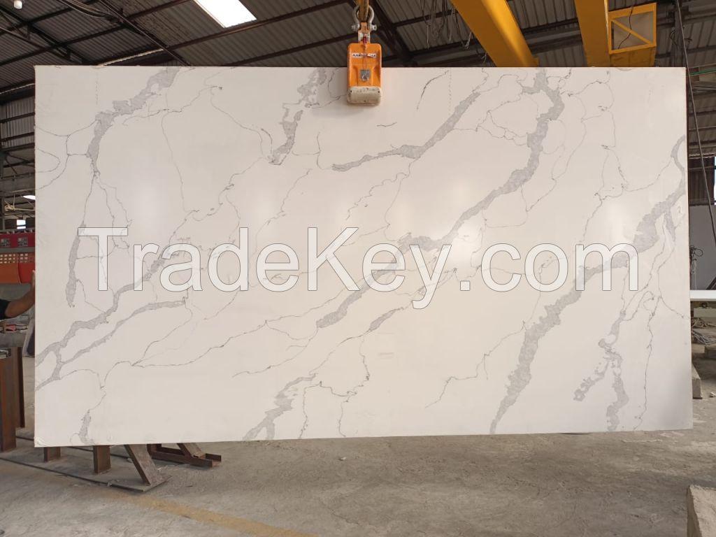 Calcutta white quartz