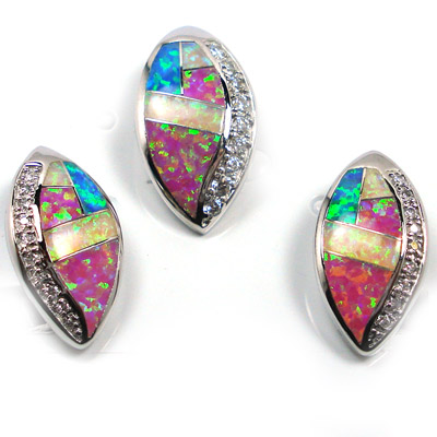 925 silver opal jewelry set YS00103