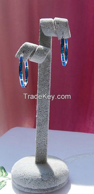 925 sterling silver opal jewelry Hook earings YE00490